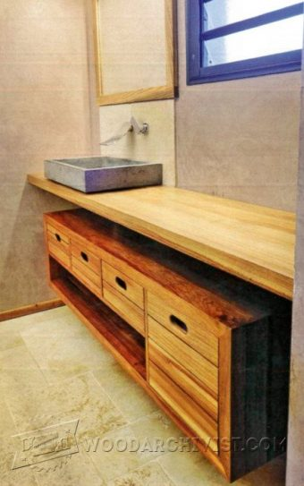 3351-Bathroom Vanity Plans