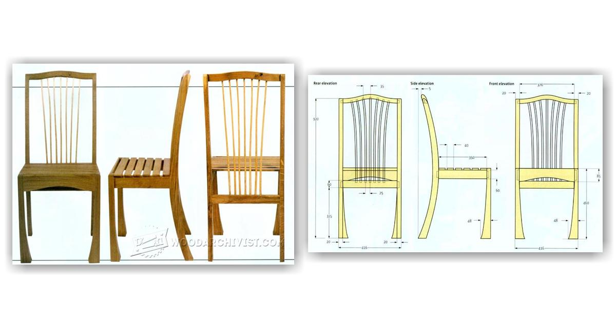 Front Elevation Molding : Frame chair plans woodarchivist