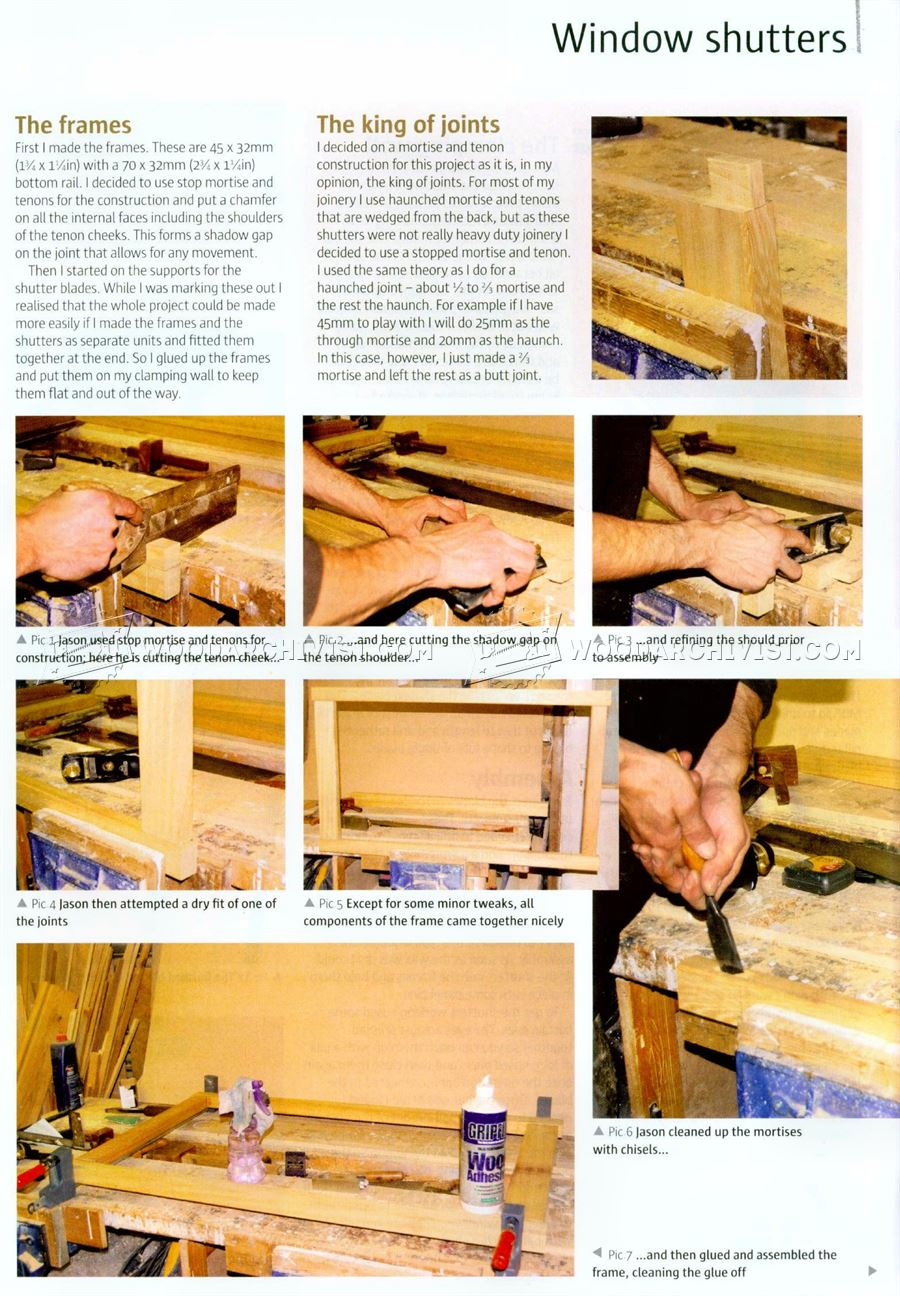 Making Wooden Window Shutters