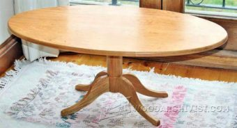 3356-Oval Coffee table Plans