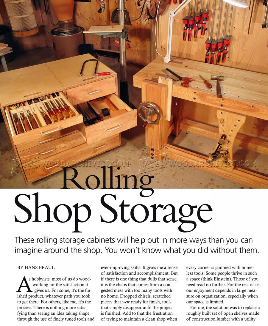 Rolling Tool Cabinet Plans • WoodArchivist