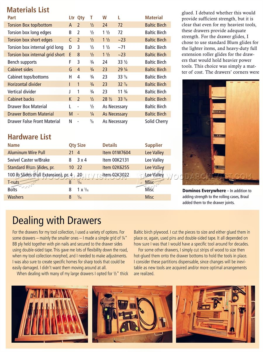 Rolling Tool Cabinet Plans