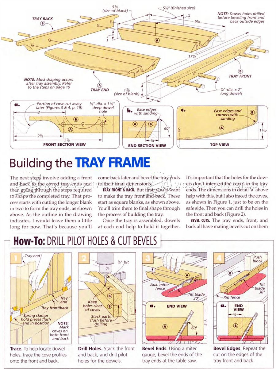 Serving Tray Plans