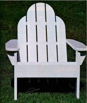 3368-Classic Adirondack Chair Plans