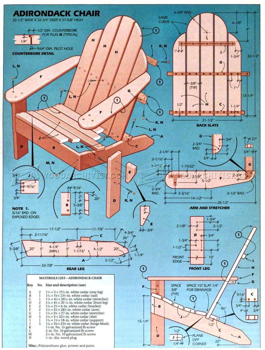 Classic Adirondack Chair Plans ...
