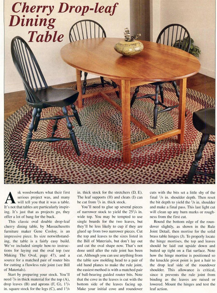 Drop Leaf Dining Table Plans