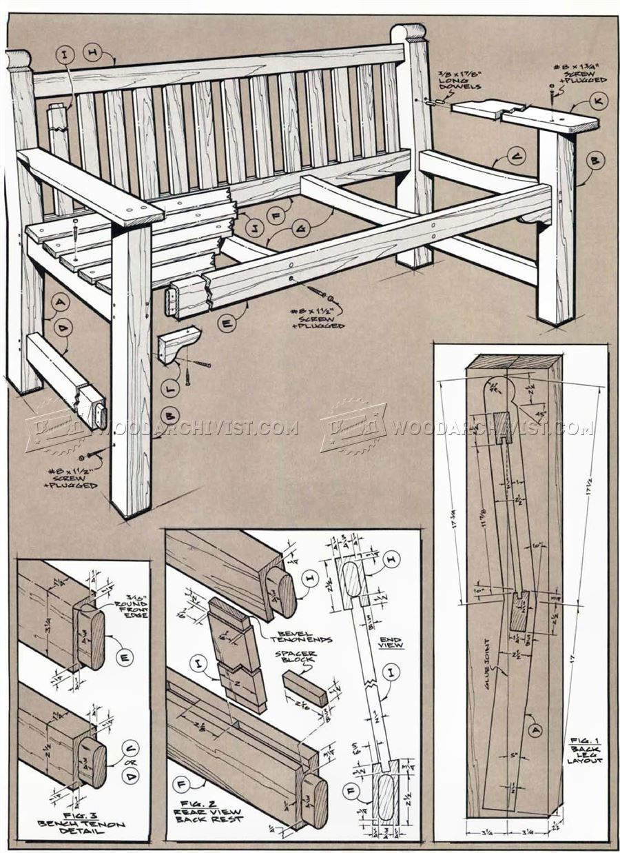 Garden Bench and Table Plans