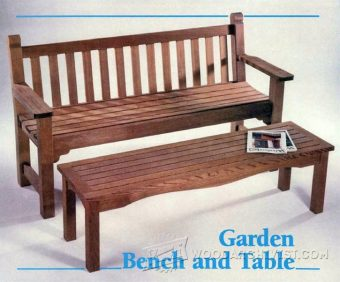 3374-Garden Bench and Table Plans