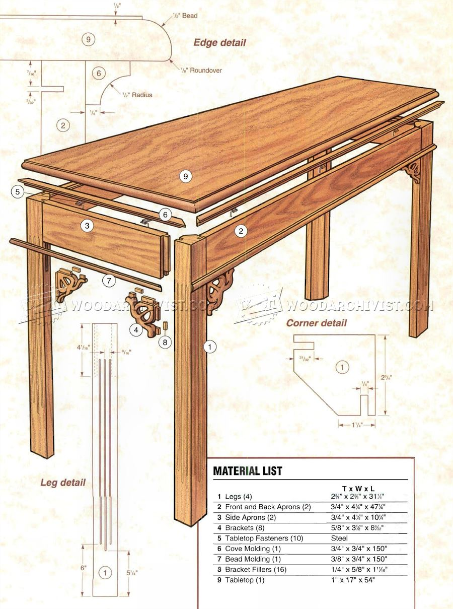 Sofa table plans ana white rustic x sofa table diy for Table design plans