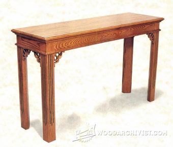3375-Sofa Table Plans