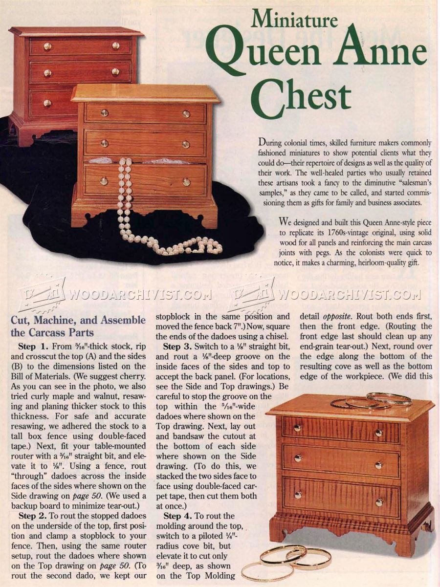 Miniature Chest Plans