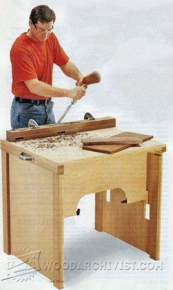 3379-DIY Folding Work Table