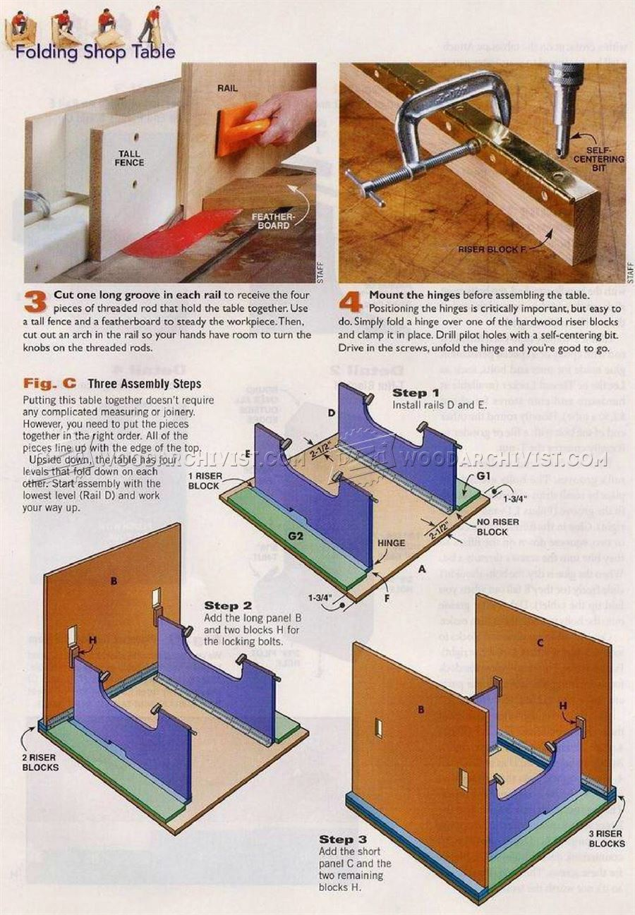 DIY Folding Work Table