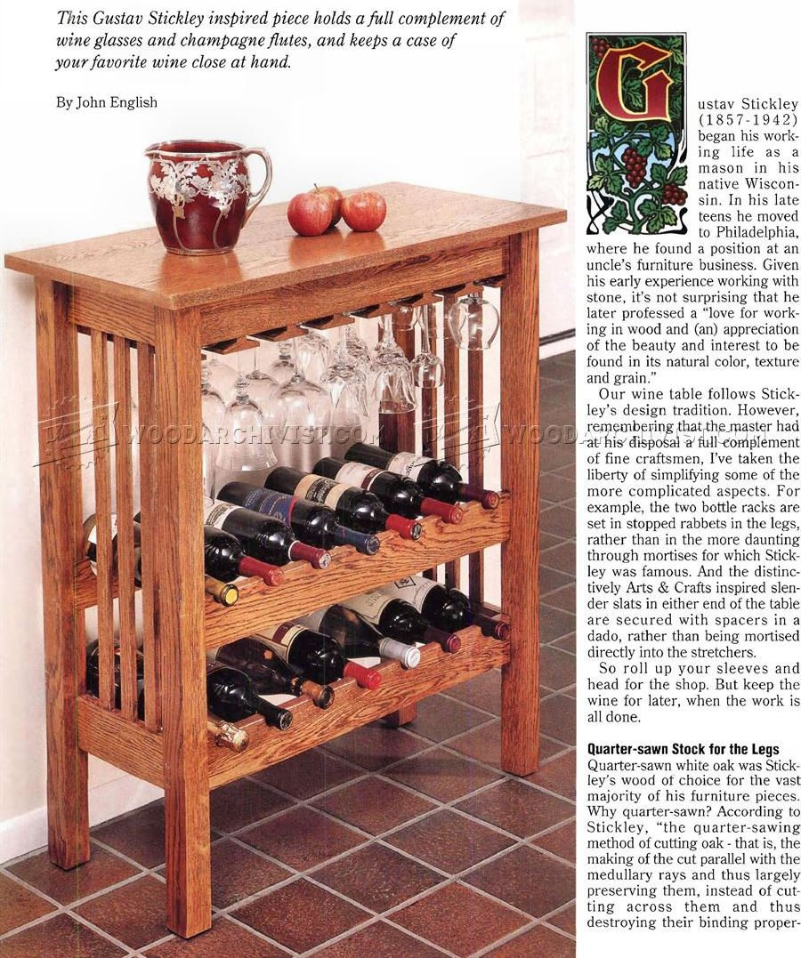 wine rack table plans - Wine Rack Table