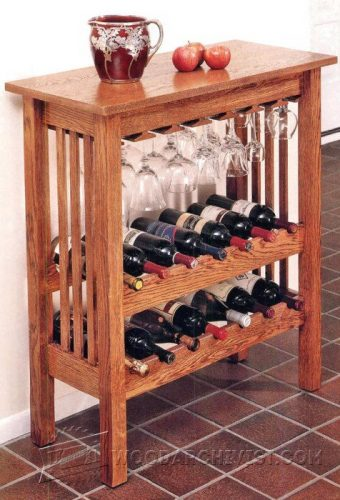 3382-Wine Rack Table Plans