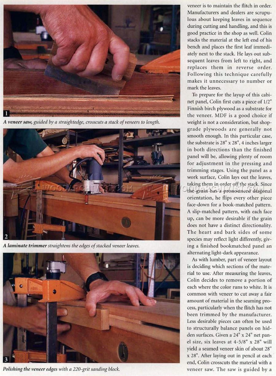 Veneer Seaming with a Router