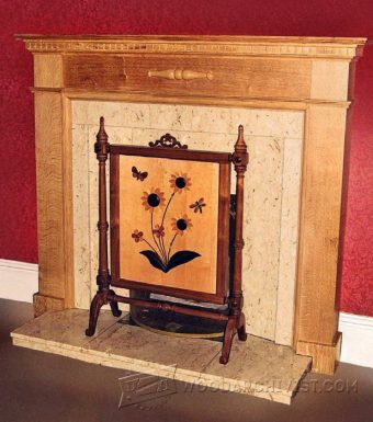 3388-Fireplace Surround Plans