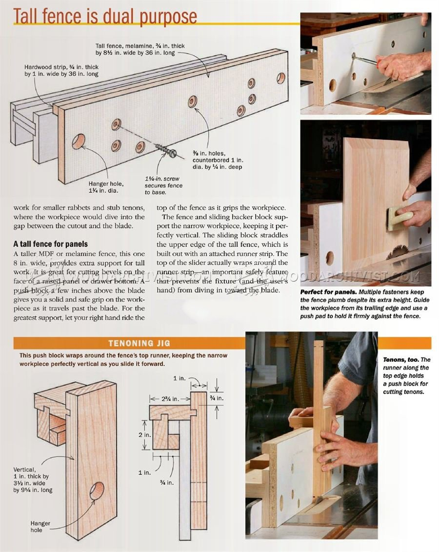 Table Saw Rip Fence Jig