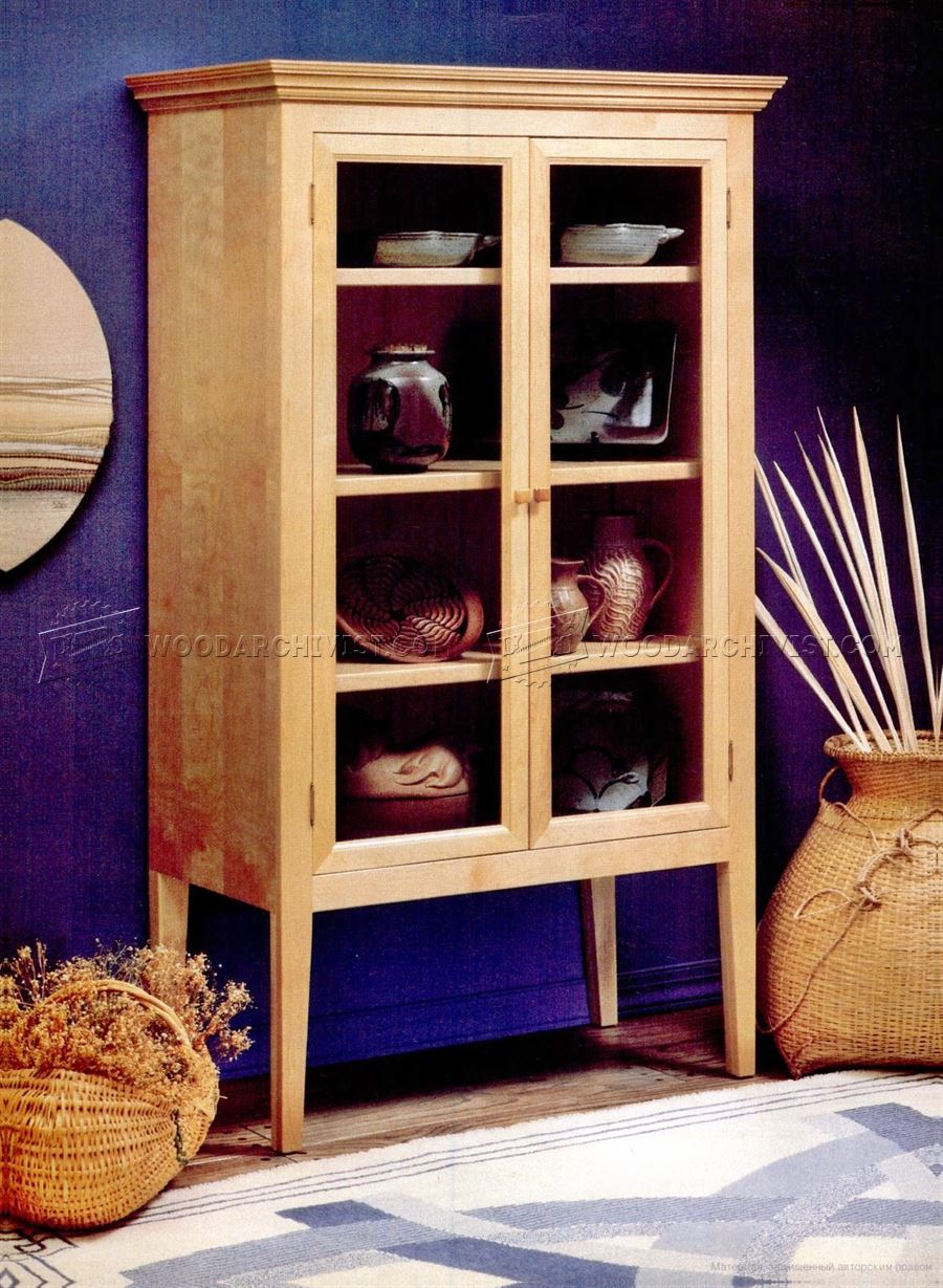 Armoire plans woodarchivist for Wardrobe cabinet design woodworking plans