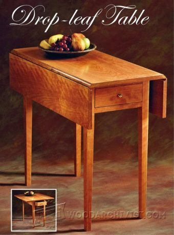 3394-Drop Leaf Table Plans
