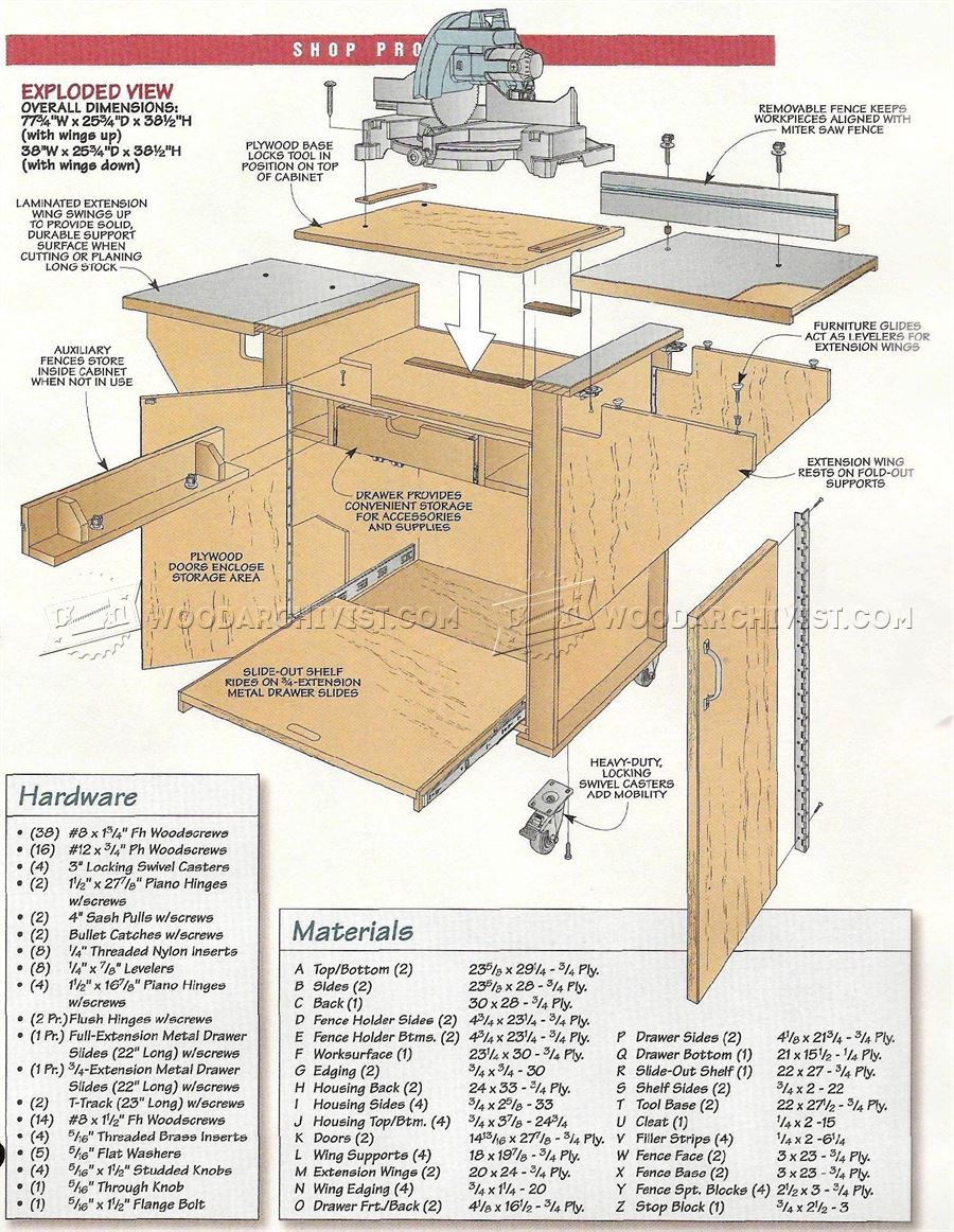 Build Miter Saw Station