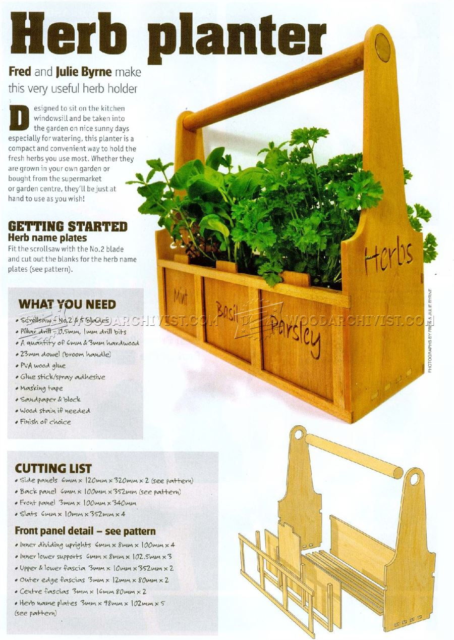 Herb Planter Plans • WoodArchivist