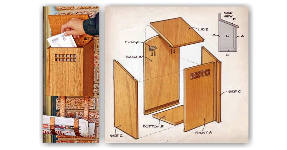 Wonderful Wooden Mailbox Plans Free PDF Plans Wooden Chair Plans  Planpdffree