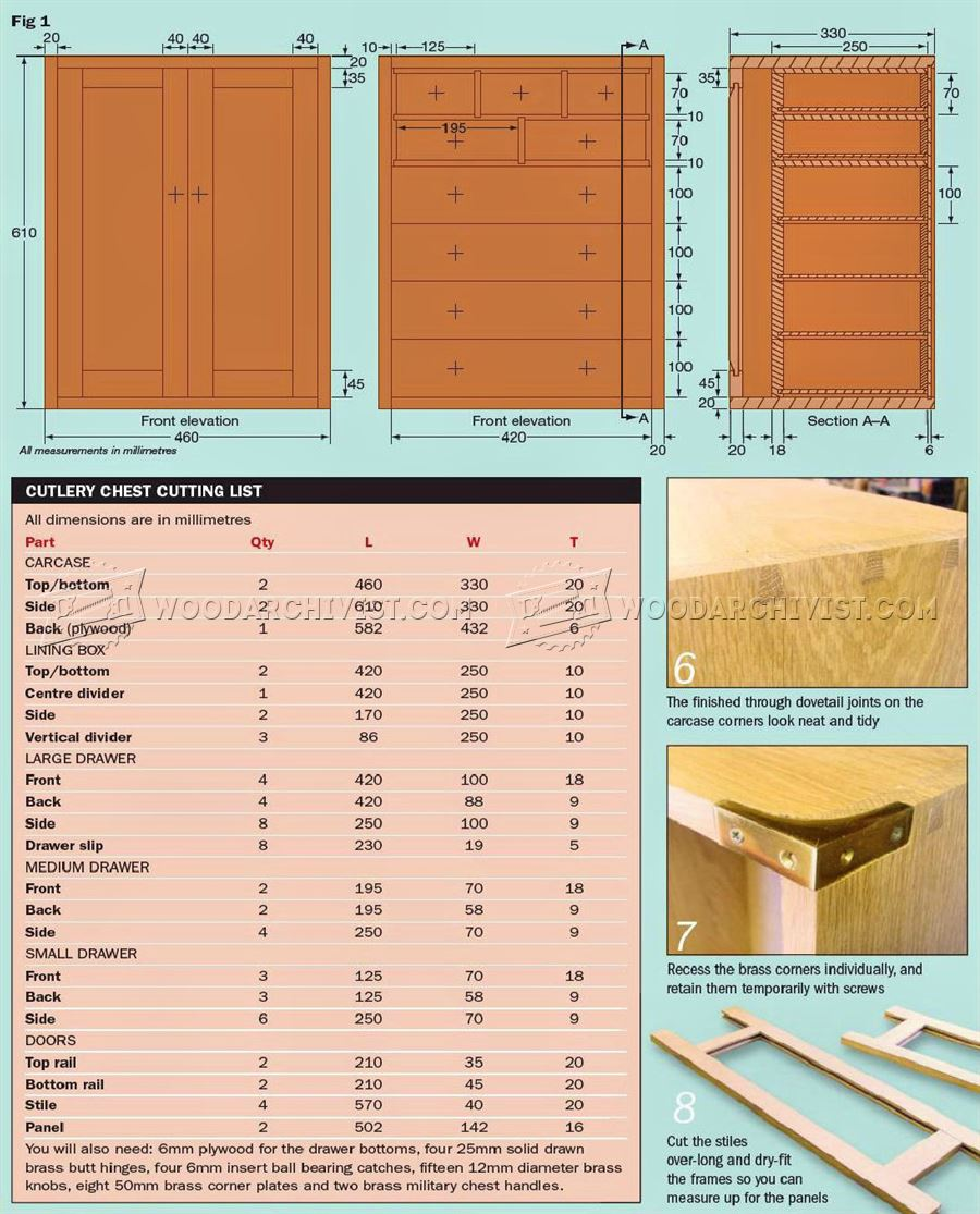 Cutlery Chest Plans
