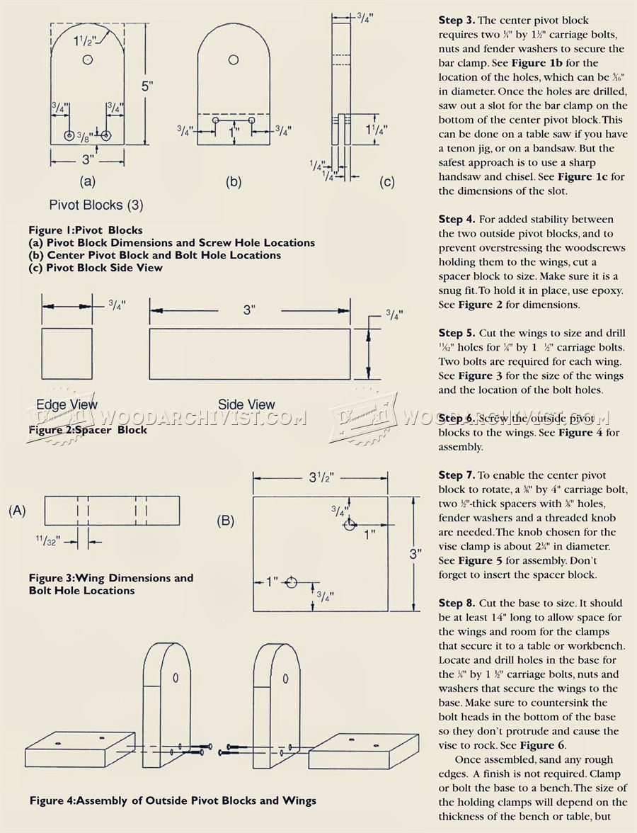 Carving Vise Plans