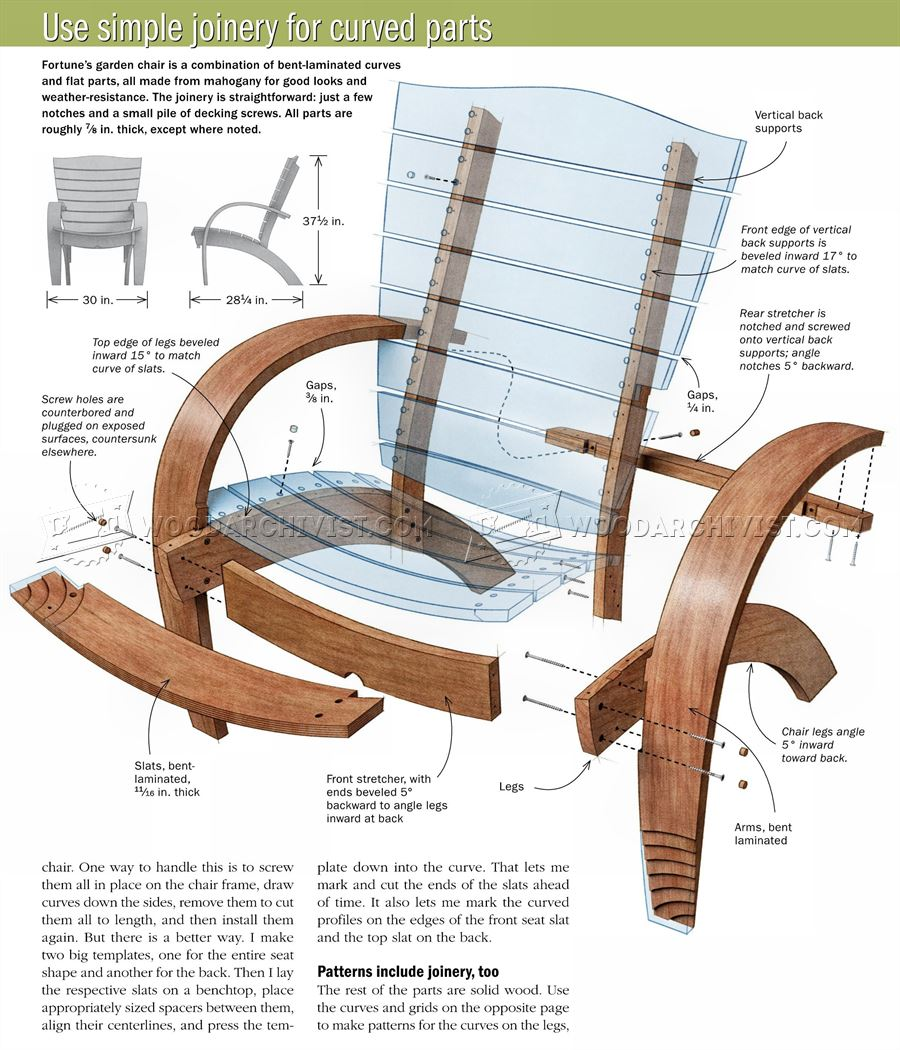 Garden Chair Plans Woodarchivist
