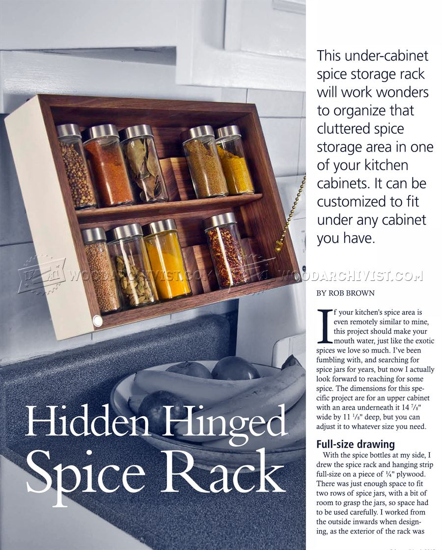 DIY Spice Rack • WoodArchivist