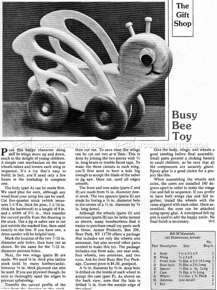 Busy Bee Toy