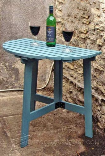 3425-Folding Outdoor Table Plans