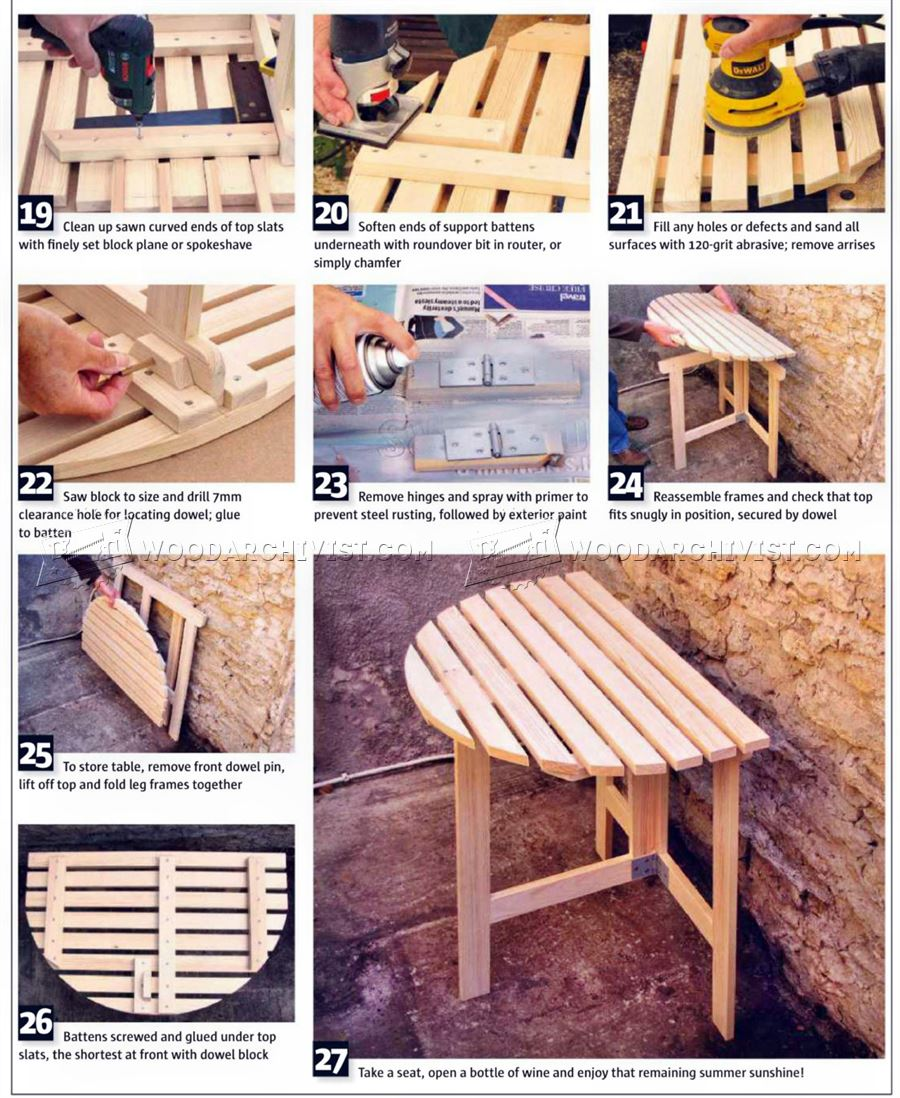 Folding Outdoor Table Plans