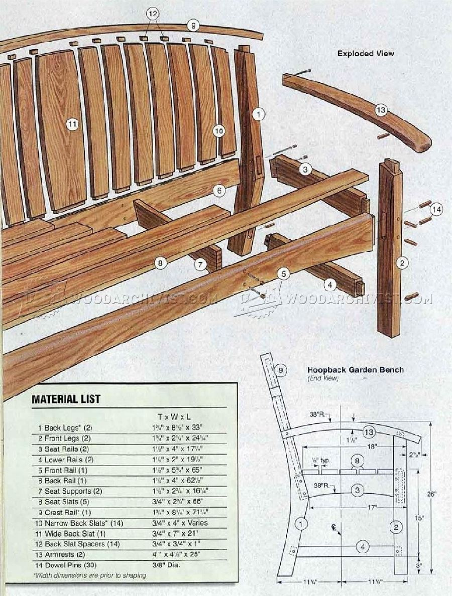 Garden Bench DIY • WoodArchivist