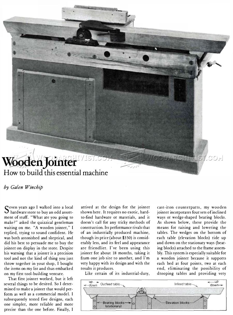 Homemade Jointer