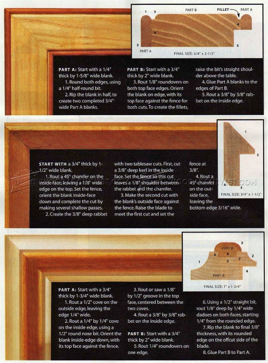 Router Made Picture Frame Plans Woodarchivist