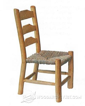 3441-Rustic Kids Chair Plans