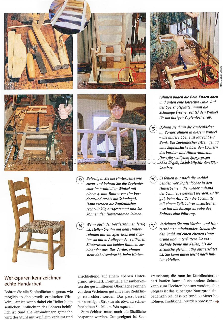 Rustic Kids Chair Plans