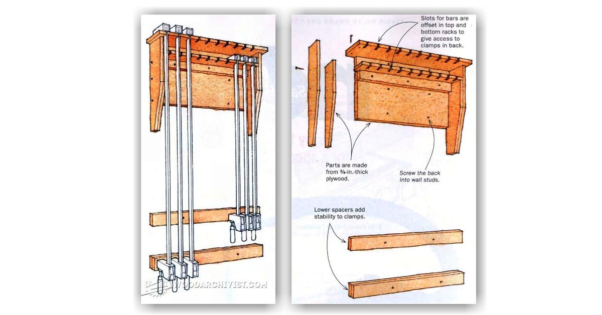 DIY Clamp Rack • WoodArchivist