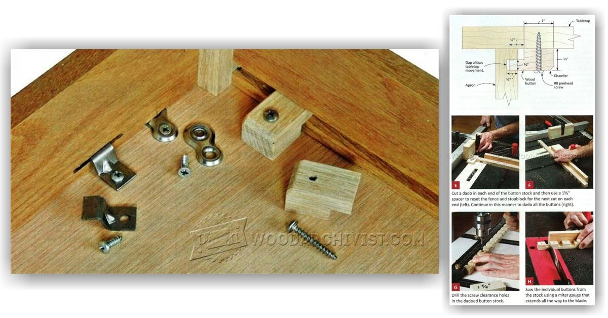 table top fasteners how to use