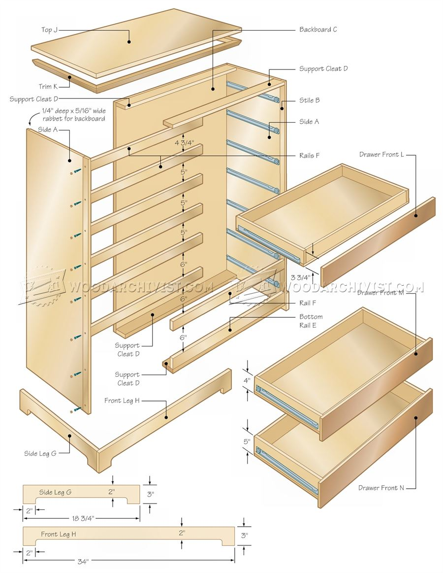 chest of drawers woodworking plans with fantastic images