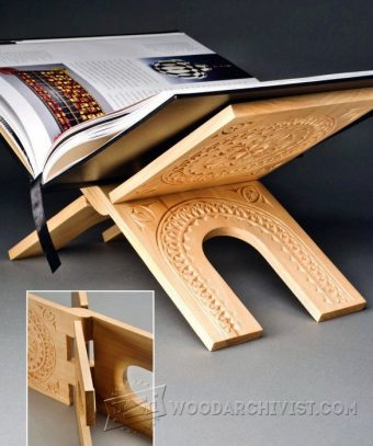 Folding Book Stand Plans Woodarchivist