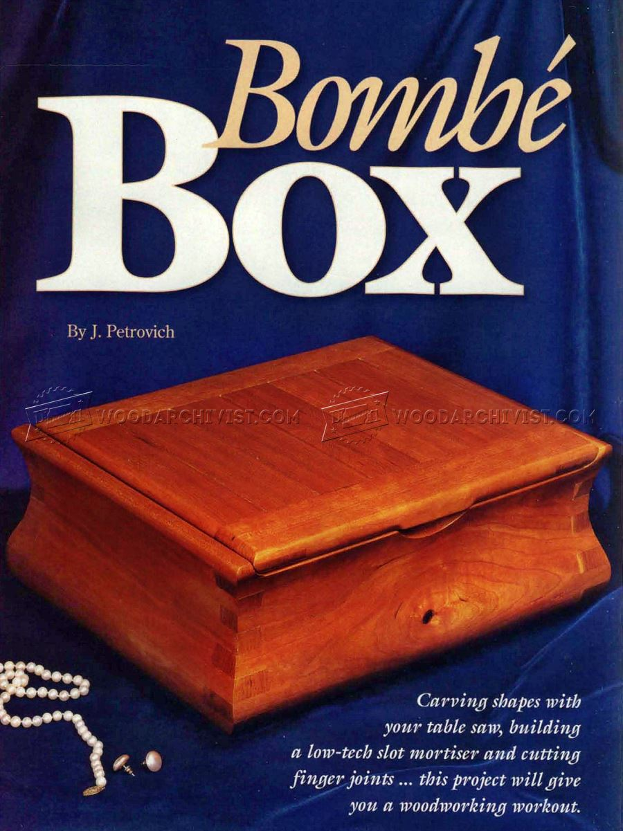 Bombe Jewelry Box Plans Woodarchivist