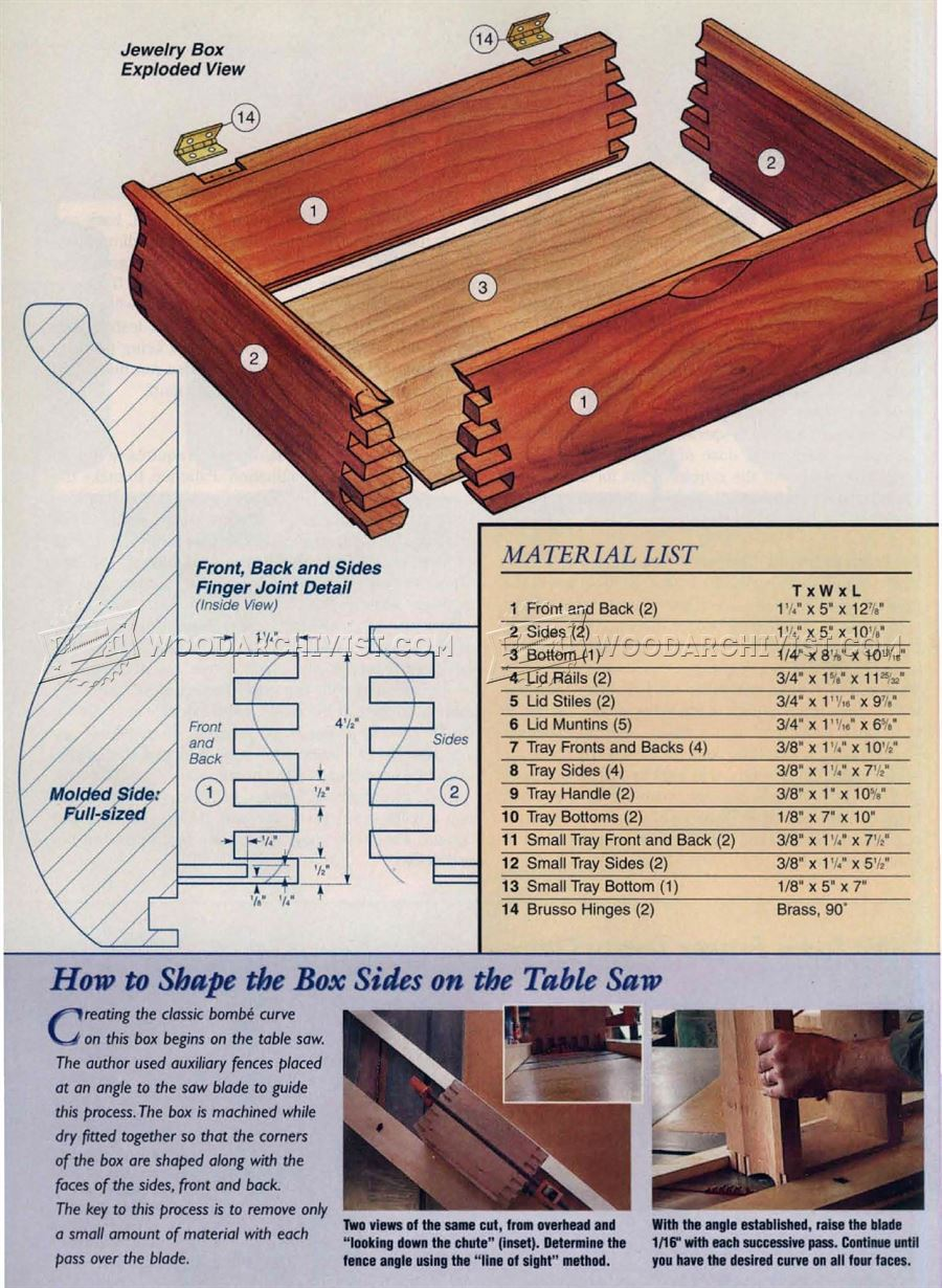 Bombe Jewelry Box Plans