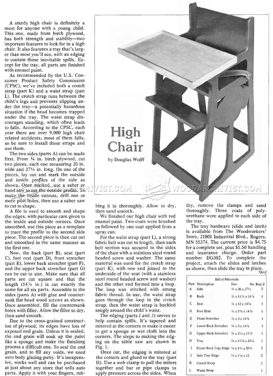 DIY High Chair