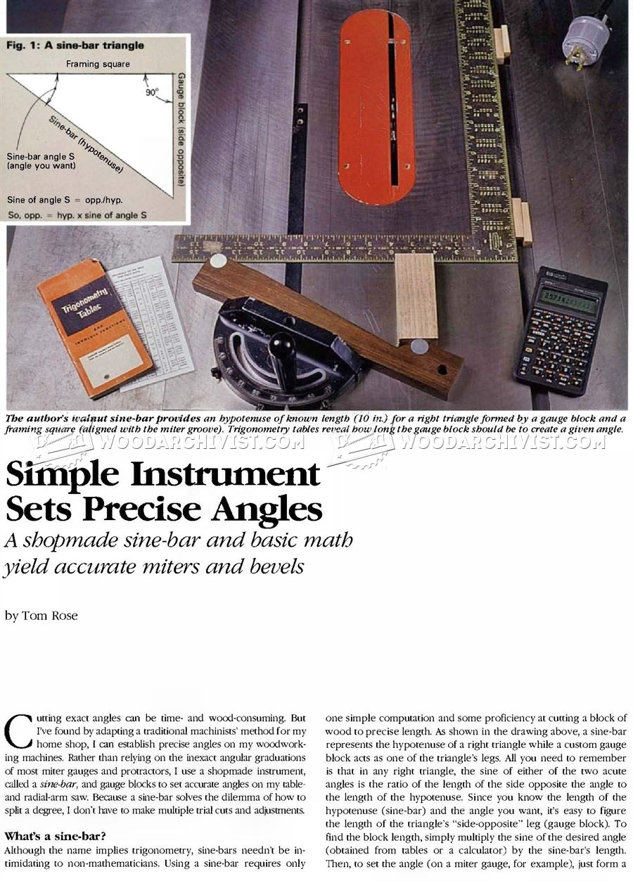 Simple Instrument Sets Precise Angles