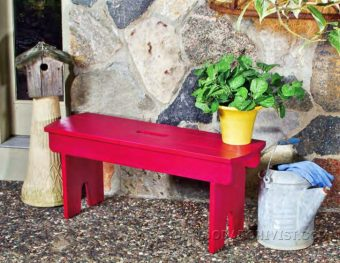 3464-Outdoor Bench Seat  Plans