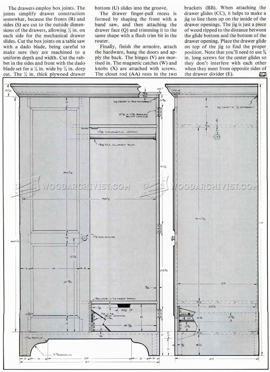 how to build your own jewelry armoire