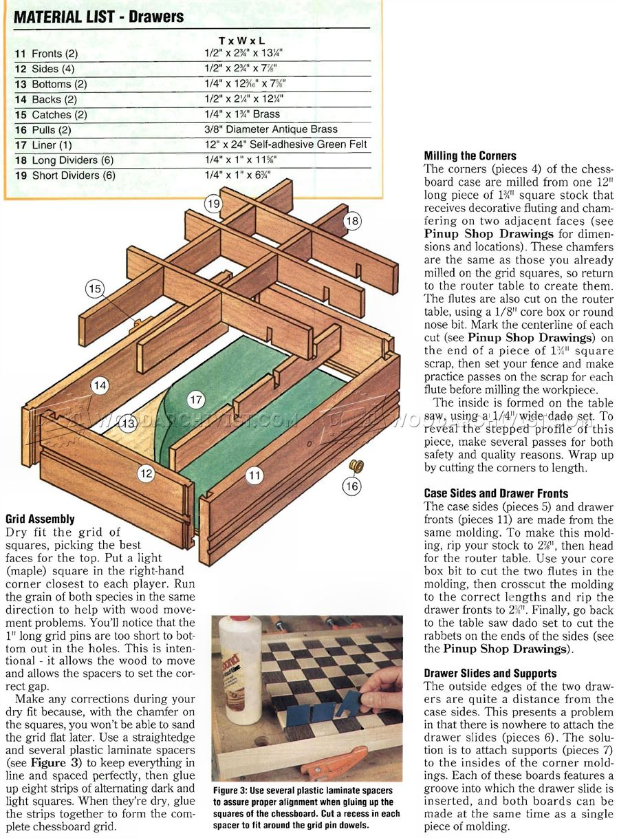 Chess Board Plans - Woodworking Plans